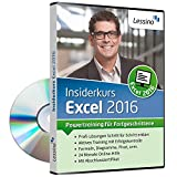 Excel 2016 Insiderkurs - Powertraining für Fortgeschrittene | Lernen Sie Schritt für Schritt Diagramme, Pivot, Formeln und Funktionen zu nutzen | inkl. Online-Kurs mit 100+ Übungen [1 Nutzer-Lizenz]