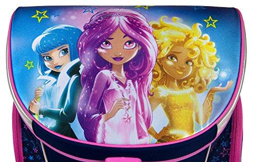Scooli SDYO7252 Sporttasche Disney Star Darlings, ca. 35 x 16 x 24 cm Schulranzen Set Campus Up, 6 teilig