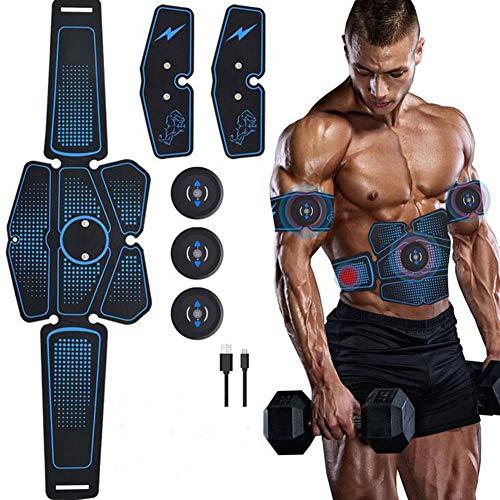 HHJY-Electroestimulador Muscular Abdominales USB Recargable EMS Estimulador Muscular Abdominales 6 Modos...