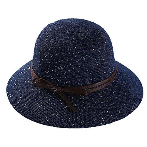 Mai Dou Le Printemps Et L'été Dames Voyage Dôme Chapeaux blue