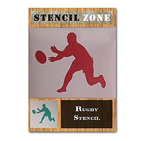 Passage de joueur de rugby Sports Mylar aérographe Peinture murale Art Crafts Pochoir A6 Size Stencil - XXSmall