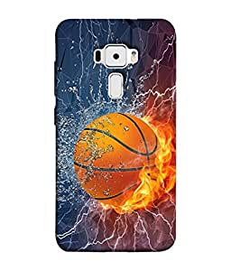 PrintVisa Designer Back Case Cover for Asus Zenfone 3 ZE552KL (5 Inches) (Playing With Colourful Fire Ball Energy Water )