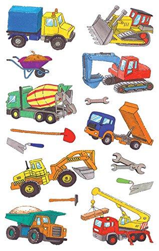 AVERY Zweckform 53209 Kinder Sticker Baumaschinen 28 Aufkleber
