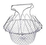 Albeey Silber Edelstahl Frittierkorb Basket Faltbar Korb