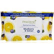 Bio Creative Lab Pfb White Radiance Exfoliating Facial Cleansing Wipes, Blueberry and Lemon, 60