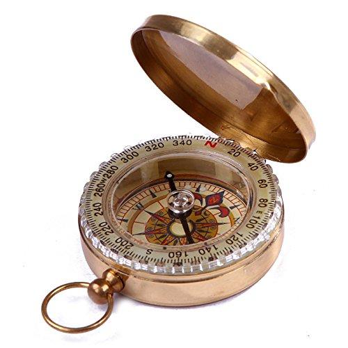 Tasca stile classico ottone Magnetica tascabile direzionale Bussola per il campeggio e Trekking