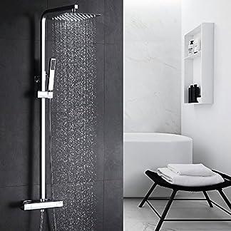 Homelody Cobre 38℃ Columna de ducha Termostatica sistema de ducha conjunto de ducha Ajustable