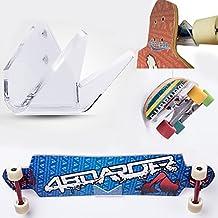 NUOVEO: SKATLE 2.0 - 4boarder sujetador fijación soporte de pared para Skateboards, Longboard, Pennyboard, tabla plancha de skate transparente, VERTICAL & HORIZONTAL