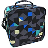KOSOX Oxford Square Insulated Lunch Tote Bag Picnic Cooler Bag with Shoulder Strap (Blue)