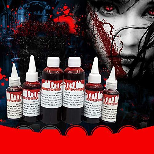 Wokee Horror Set,Fake Blood,Wundschorf Filmblut Kunstblut Ultra-realistische Simulation künstliches Blut in der Tube für Karneval, Halloween ()