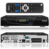 vuga Combo Full HDTV H.265satellitare digitale DVB-C/T2Ricevitore con Wi-Fi gratuito (IPTV, Apps, DVB-S2, HDMI, Scart, LAN, USB 2.0, Full HD 1080P) Nero