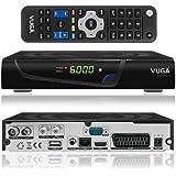 vuga Combo Full HDTV H.265Digital DVB-C/T2Receptor Satélite Incluye WLAN Stick (IPTV, aplicaciones, DVB-S2, HDMI, SCART, LAN, USB 2.0, Full HD 1080p), color negro
