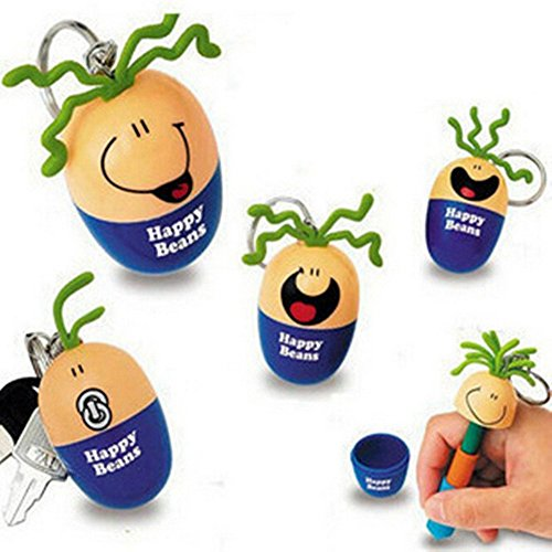 ck Pcs Cute Cool Smile Face Roll-Ei Happy Bohnen Personalisierte Werbe Kugelschreiber Büro Schulbedarf Studenten Kinder Geschenk ()