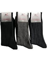 6 Paar Outdoor Arbeit Wandersocken Baumwoll Socken Frottesohle Ohne Naht von RS Pia