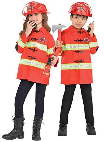 Imagen de kit de bombero infantil bomberos uniformes niños niñas niños disfraz