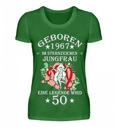 Shirtee Sternzeichen Organic 50 Kelly Green Jungfrau Hochwertiges Wird Damen 1qBZ1Hr