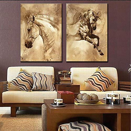 JSBVM 5 Stücke Modern Segeltuch HD gedruckt Tiere Pferde Bild Wandbilder Haus Dekoration Giclee Artwork für die Wand Dekor,40 * 60cm