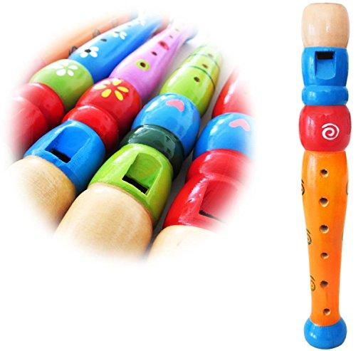 KEEPDRUM KFL1OR Flöte aus Holz Orange für Kinder Kinder-Flöte