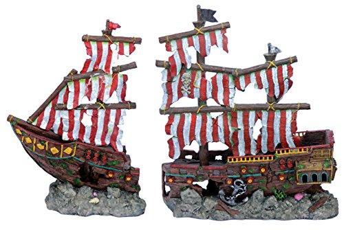 penn-plax-striped-sail-shipwreck-aquarium-decoration-2pc-large-over-19-inches-high-for-large-fish-ta