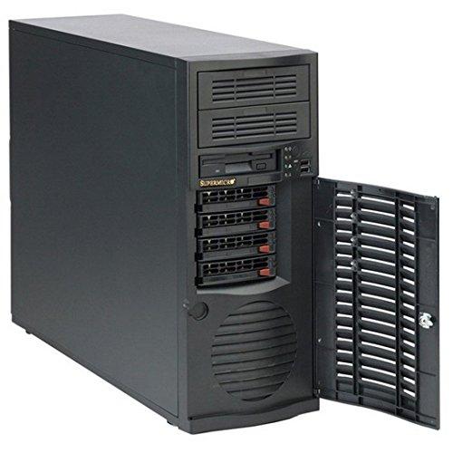Super Micro CSE-733TQ-665B Midi-Tower Server Gehäuse inkl. 665W (E-ATX, 4x 3,5 SATA, 2x USB 2.0) schwarz