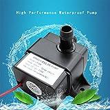 Gugutogo High Performance QR30E DC 12 V 4,2 Watt 240L / H Flussrate CPU Kühlung Auto Brushless Wasserpumpe Wasserdichte Brushless Pumpe (Farbe: Schwarz)