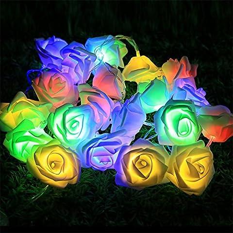 Emwel fiore fata luci 20 LED luci a pile rosa