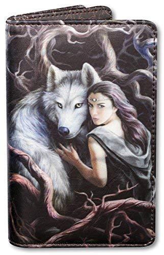 Fantasy-Geldbörse mit Wolf und Frau - Soul Bond | Geldbeutel, Mehrfarbig