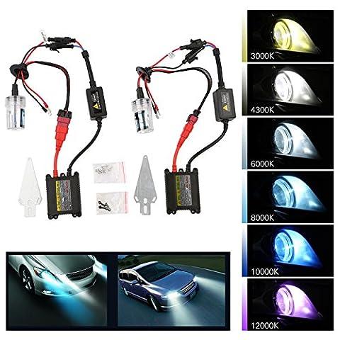 TKOOFN Kit Conversion HID 55W H1.DC 8000K Ampoules Xénon Ballasts Accessoires Auto