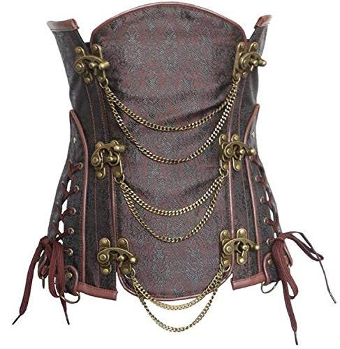 7726d7b84718a Corsage da Donna Fashion Classic Tinta Unita Slim Fit Mode di Marca Corsage  Leather Underbust Steampunk Corsetto Halter Top Corsagentop Bustier Gothic  ...