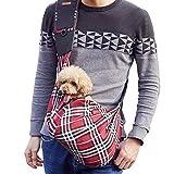 PETEMOO Tragetuch Hund, Katze Haustier Hand Schleuderträger Schultertasche Verstellbare Gepolsterte Schultergurt mit Fronttasche hundetragebeutel Metro Outdoor