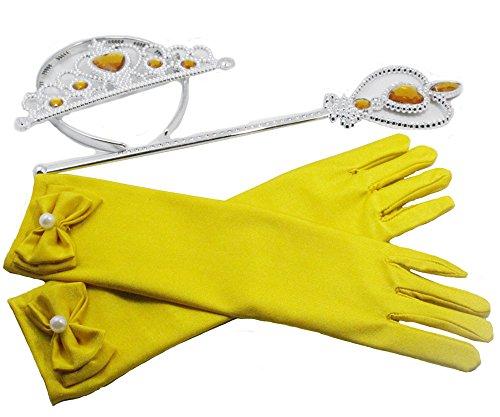 Prinzessin Zauberstab,Queen Krone,Strass,Tiaras & Handschuh Mädchen Geschenk-Set Prinzessin Karneval Verkleidung Party Cosplay Mädchen Handschuhe ()