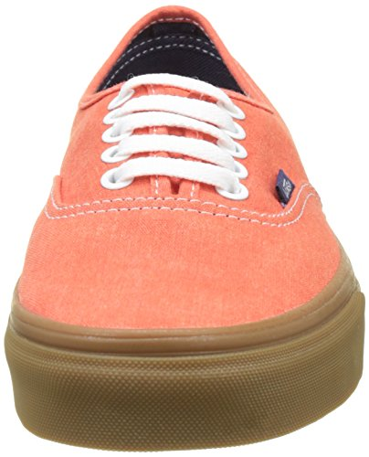 Vans Ua Authentic, Sneakers Basses Homme Orange (Washed Canvas Cherry Tomato/gum)