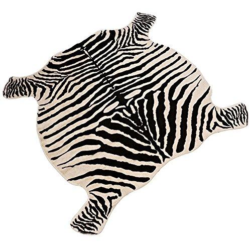 DGou Kuh Print Teppich 4.3x 4.6Füße Faux Cow Hide Teppich Animal Gedruckt Teppich für Home. 4.4x4.9 Zebra -