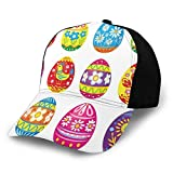 GULTMEE Gorra de béisbol Hip Hop con diseño rústico de Madera con Flores y Lunares en una Cesta Tejida para Hombres y Mujeres, Talla única, 2