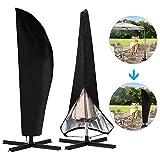 otumixx Schutzhülle für Sonnenschirm Wasserdicht 210D Polyester Oxford Abdeckhauben für Sonnenschirm für Schirm 2 bis 4M Sonnenschirm...