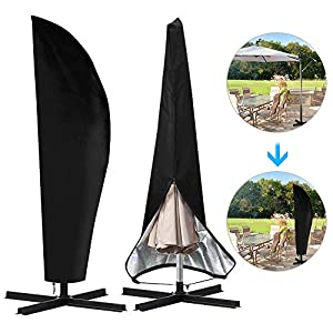 otumixx Ampelschirm Schutzhülle mit Stab, 2 bis 4 M Große Sonnenschirm Schutzhülle Wasserdicht UV-Anti Winddicht…