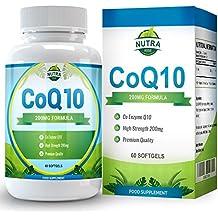 COQ10, Integratore Alimentare, Coenzima Q10 Con Ubichinone,