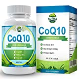 COQ10, Coenzyme Q10 200mg Supports Your Cardiovascular System, Boosts Your Immune System, Provides Pain Relief and Combats Exercise Fatigue - 60 Coenzyme Q10 Capsules