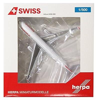 Herpa 523134-002 - Swiss International Air Lines Airbus A330-300, Miniaturmodell von Herpa