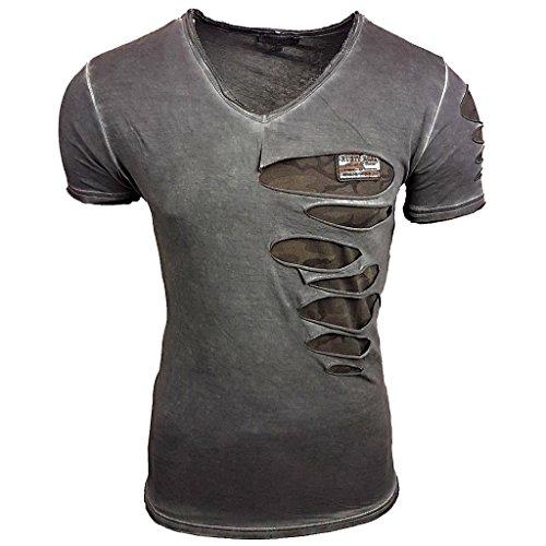 Deep Shirt Basic Oversize Style Shirt lang Longshirt Long Hoody Sommer Herren Sweatshirt NEU Sweater Sweat-Jacke Pullover langes Longsleeve...