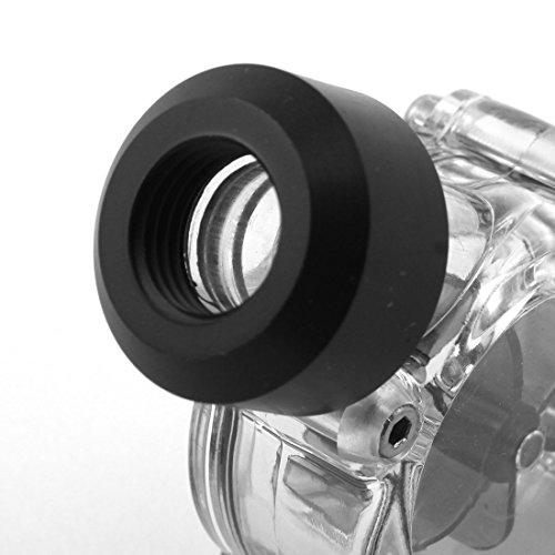 sourcingmap® Schwarz Klar Acryl G1/4 Gewinde Computer Wasserkühlung Durchflussmesser Ohne Barb - 3