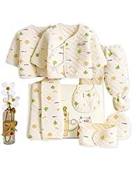 SHISHANG Ensemble de 7 pièces Boîte cadeau pour bébés Boîte bébé en pur coton Enfant garcon Adapté pour 0-3 mois Boîte cadeau nouveau-né Coton pur (100%) Forfait cadeau Four Seasons 2 Couleur en option