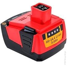 batería 3000mAh para herramienta Hilti SF 144-A CPC 14.4 V, SF144-A, SFH 144-A, SFH 144-A CPC 14.4V, SFL Flashlight, SID 144-A CPC Impact por B144.