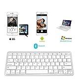 Bluetooth Tastatur Für alle iOS/ Android/ Windows, (US/UK QWERTY Layout) IKOS Wireless Keyboard Für, iPhone X 8 7 6S Plus, iPad Pro,iPad Air,iPad Mini,iPad 2/3/4,Samsung Galaxy Tab