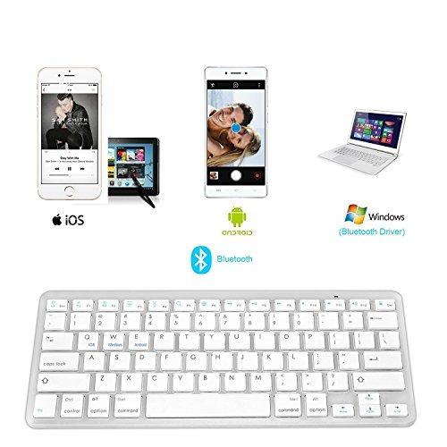 Bluetooth Tastatur Für alle iOS/ Android/ Windows, (US/UK QWERTY Layout) IKOS Wireless Keyboard Für, iPhone X 8 7 6S Increased by, iPad Pro,iPad Air,iPad Mini,iPad 2/3/4,Samsung Galaxy Tab