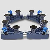 D_HOME Ruote per carrelli Multifunzione Base Mobile Mobile per elettrodomestici - Asciugabiancheria, fornelli, frigo e congelatori (Colore : Blu)