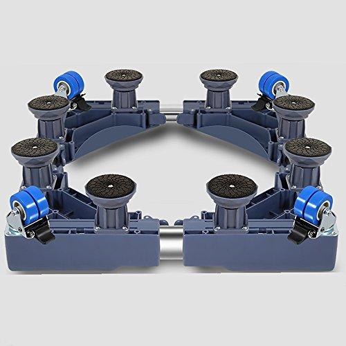 D_HOME Multifunktionale Laufräder mit beweglicher Spezialbasis für Haushaltsgeräte - Trockner, Herde, Kühlschränke und Gefriergeräte (Farbe : Blau)