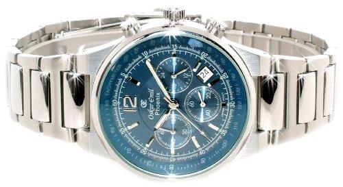 Oskar Emil – Reloj de pulsera hombre, acero inoxidable, color plateado