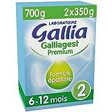 Laboratoire Gallia Galliagest Premium - Lait bébé 2ème âge en poudre de 6 à 12 mois 700 g - Pack de 4