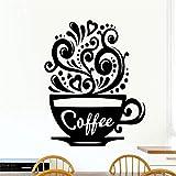 wandaufkleber spr wandaufkleber schlafzimmer Liebe Kaffeetassen Küche Tee für Coffee Shop Zeichen Tasse Restaurant Tür Fenster Pub Cafe Decor